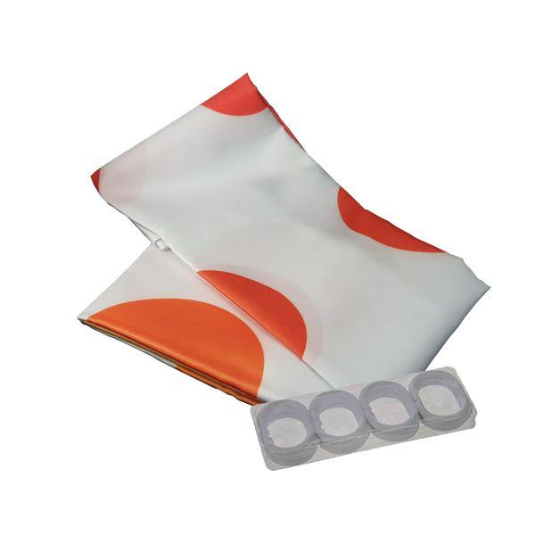 پرده حمام رزینتاژ طرح Orange سایز 200x240 سانتیمتر