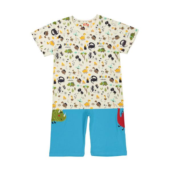 ست تی شرت و شلوارک راحتی پسرانه مادر مدل 2041110-52