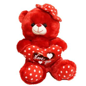 عروسک طرح خرس عاشق کد 208 ارتفاع 35 سانتی متر