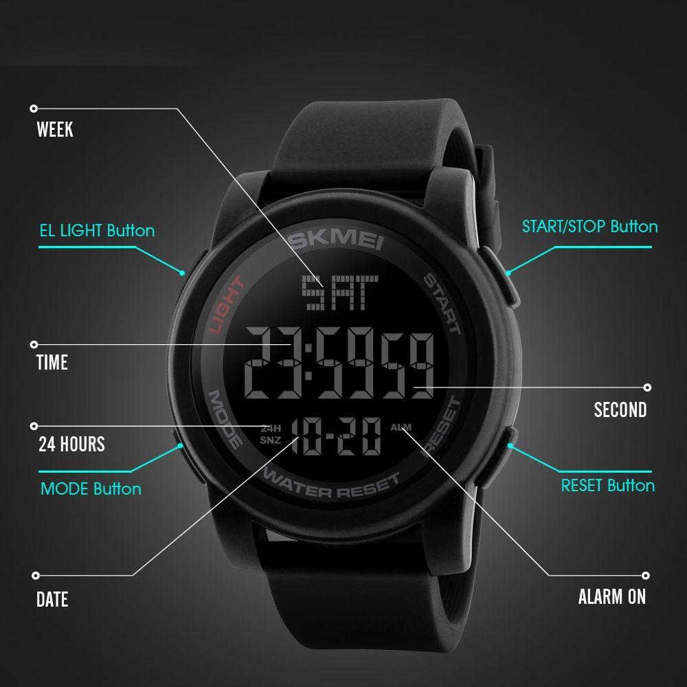 ساعت مچی دیجیتالی اسکمی مدل 1257 کد 05 -  - 6