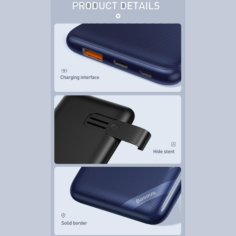 شارژر همراه بی سیم باسئوس مدل PPS10-01 ظرفیت 10000 میلی آمپر ساعت