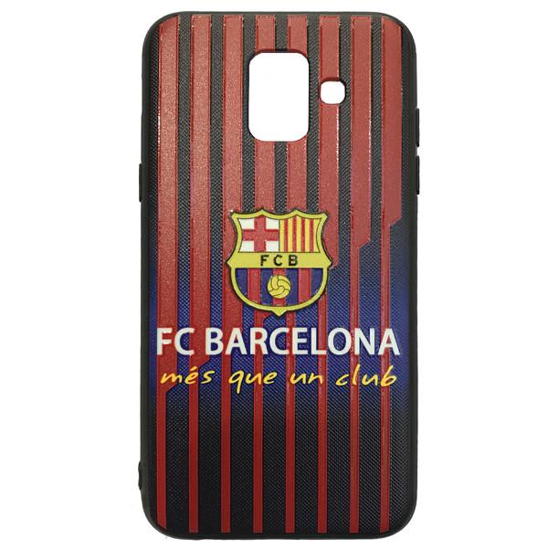 کاور طرح بارسلونا مدل mf1212 مناسب برای گوشی موبایل سامسونگ Galaxy A6 PLUS