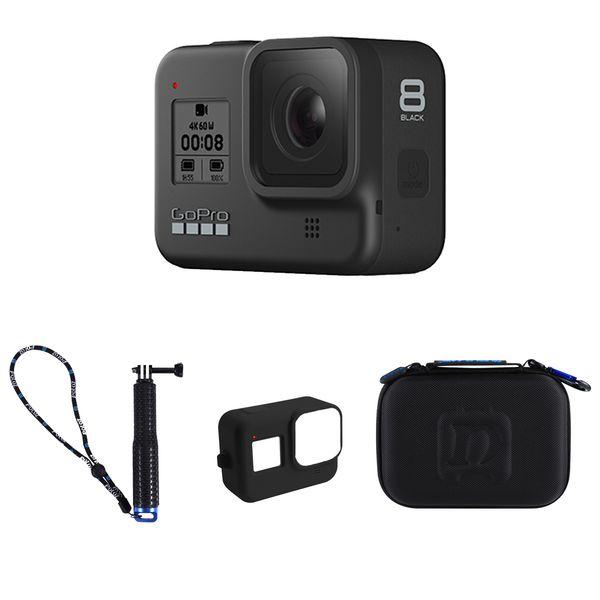 دوربین فیلم برداری ورزشی گوپرو مدل HERO8 Black به همراه لوازم جانبی