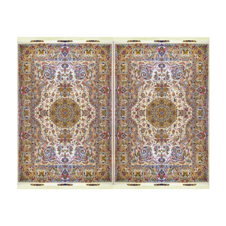 فرش دستباف شش متری مدل لچک ترنج کد 1023 یک جفت