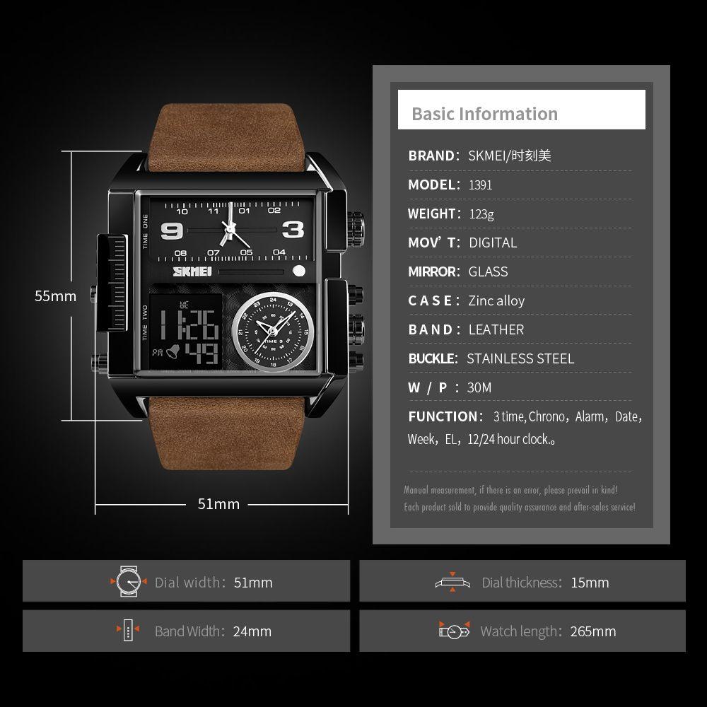 ساعت مچی عقربه ای مردانه اسکمی مدل 1391GH-NP -  - 6