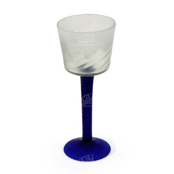 لیوان شیشه گری فوتی آرانیک سادهآبی تیره مدل 1017100005