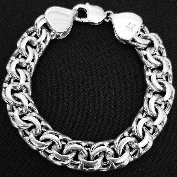 دستبند نقره مردانه کد HN14