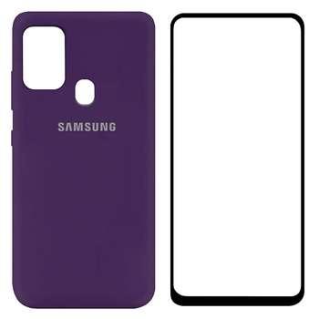 کاور مدل SLCN مناسب برای گوشی موبایل سامسونگ Galaxy A21s به همراه محافظ صفحه نمایش