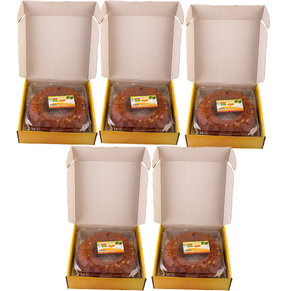 کیک روغنی هویج گردو مهفام - 620 گرم  بسته 5 عددی