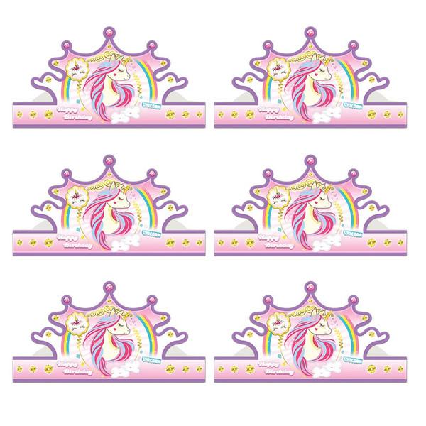 تاج تولد سورساتان مدل اسب شاخدار بسته 6 عددی