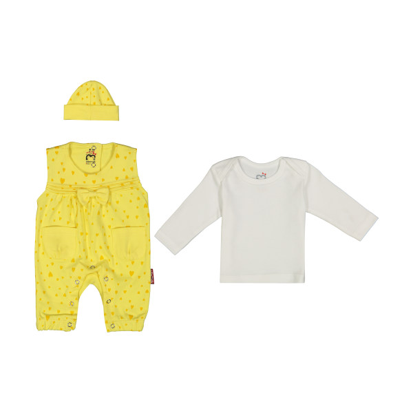 ست 3 تکه لباس نوزادی آدمک مدل 2171132-19