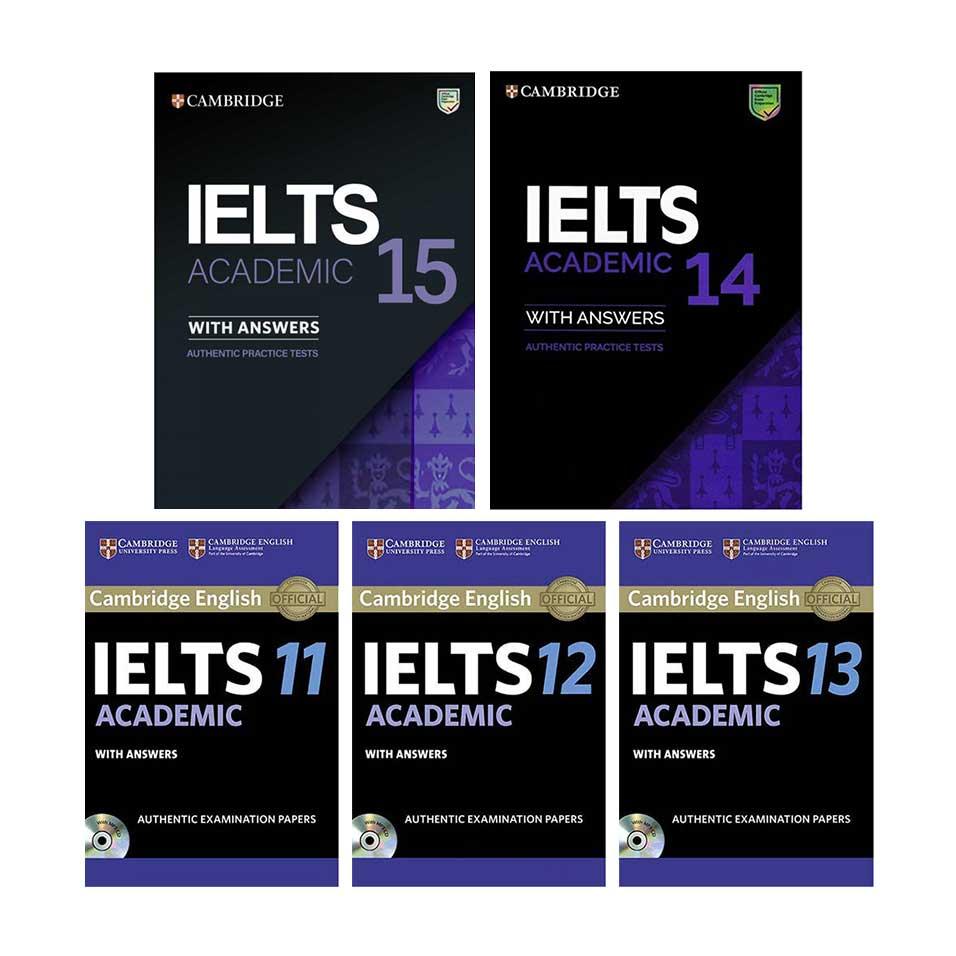 خرید                       کتاب Cambridge IELTS Academic اثر جمعی از نویسندگان انتشارات زبان مهر جلد 11 تا 15