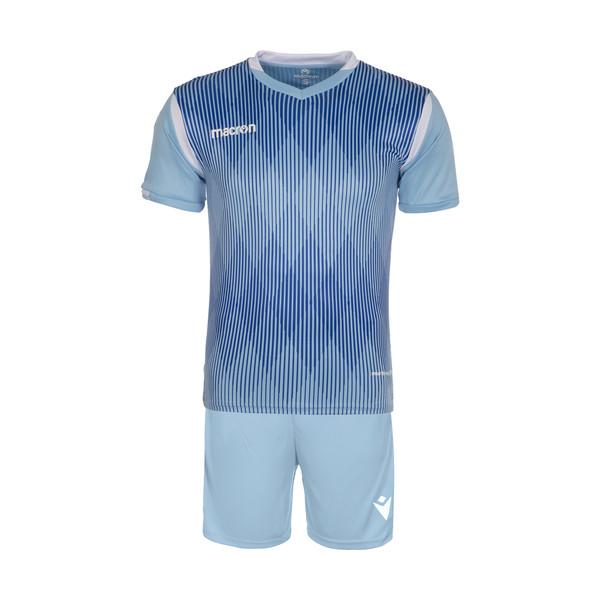 ست تی شرت و شلوارک ورزشی مردانه مکرون مدل فارست رنگ آبی