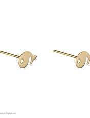 گوشواره طلا 18 عیار زنانه نیوانی مدل EA033 -  - 4