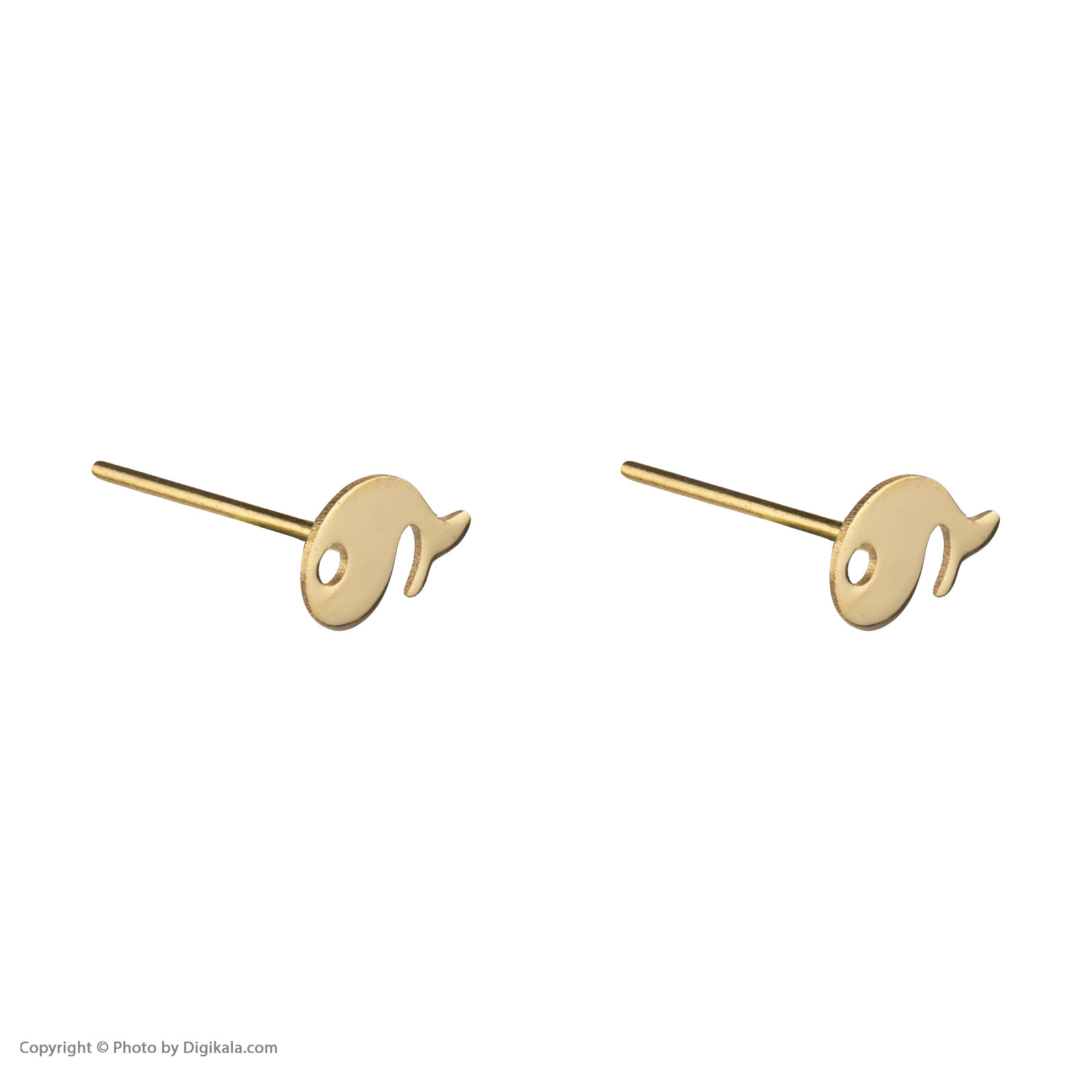 گوشواره طلا 18 عیار زنانه نیوانی مدل EA033 -  - 5
