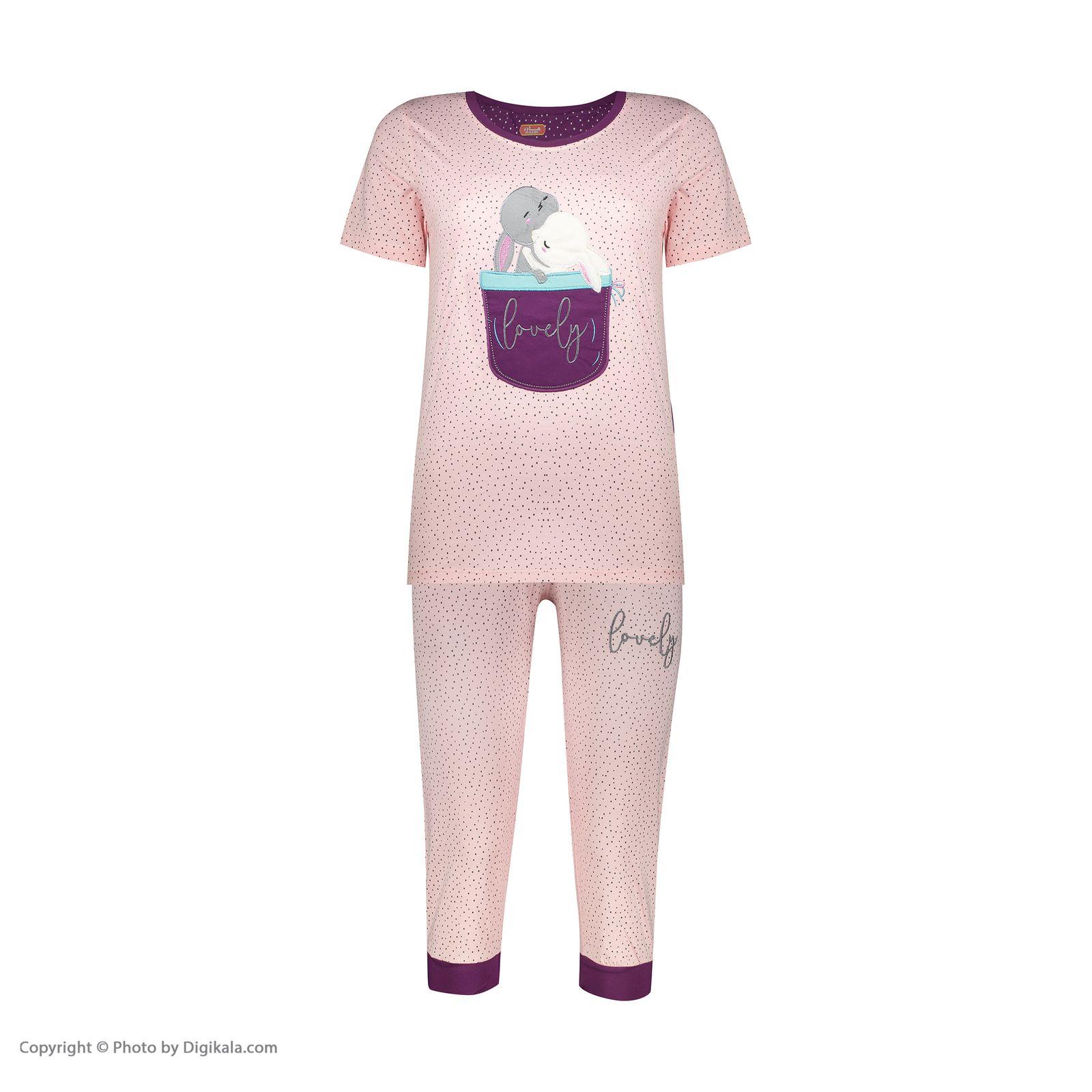 ست تی شرت و شلوارک راحتی زنانه مادر مدل 2041102-84 -  - 3