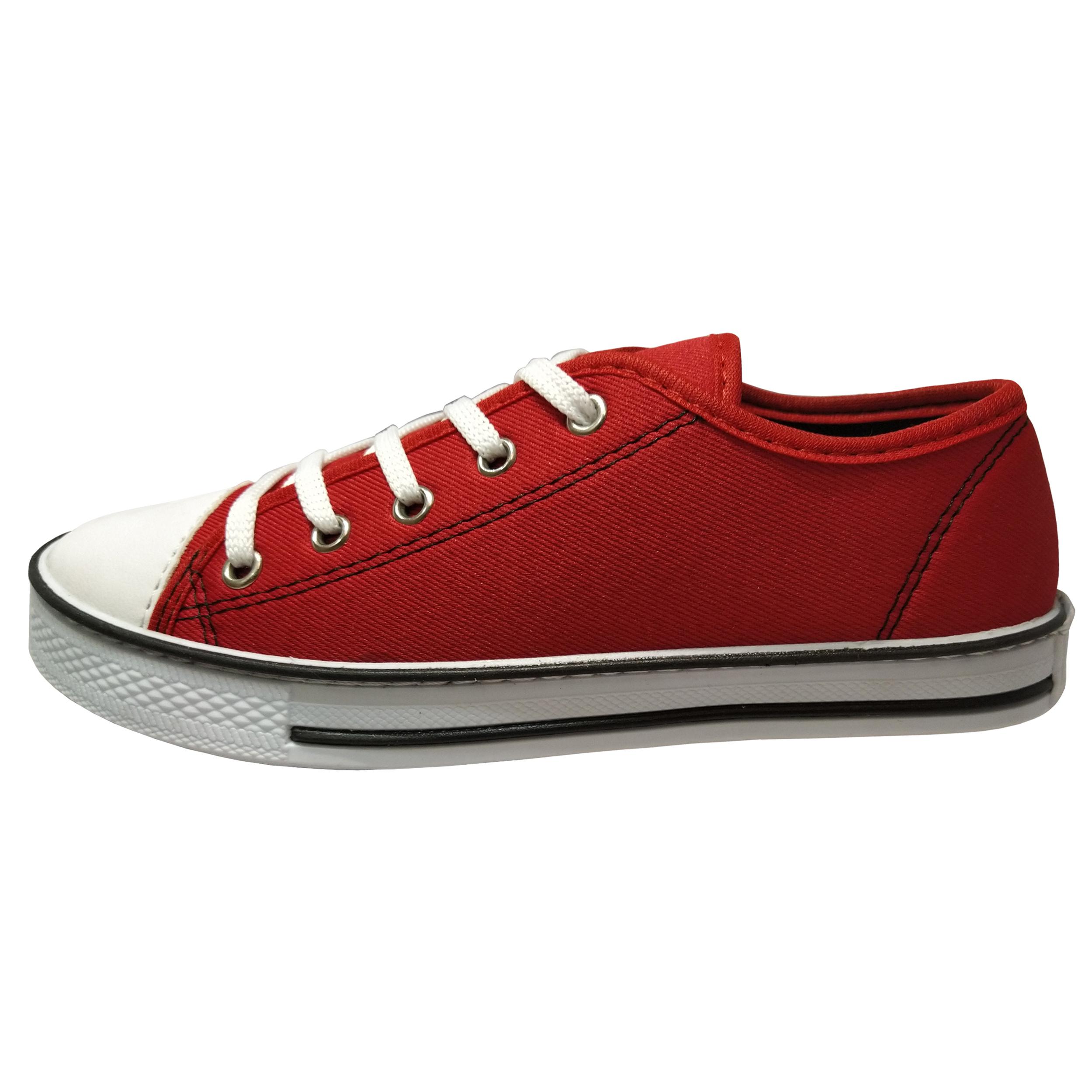 کفش مدل لیدر کد A8 رنگ قرمز