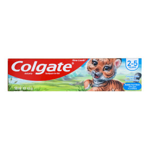 خمیر دندان کودک کلگیت مدل Tiger Bubble حجم 50 میلی لیتر