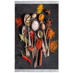 فرش ماشینی باتیک طرح آشپزخانه کد 700488 زمینه طوسی