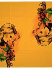 روسری زنانه 27 طرح girl کد H03 -  - 4