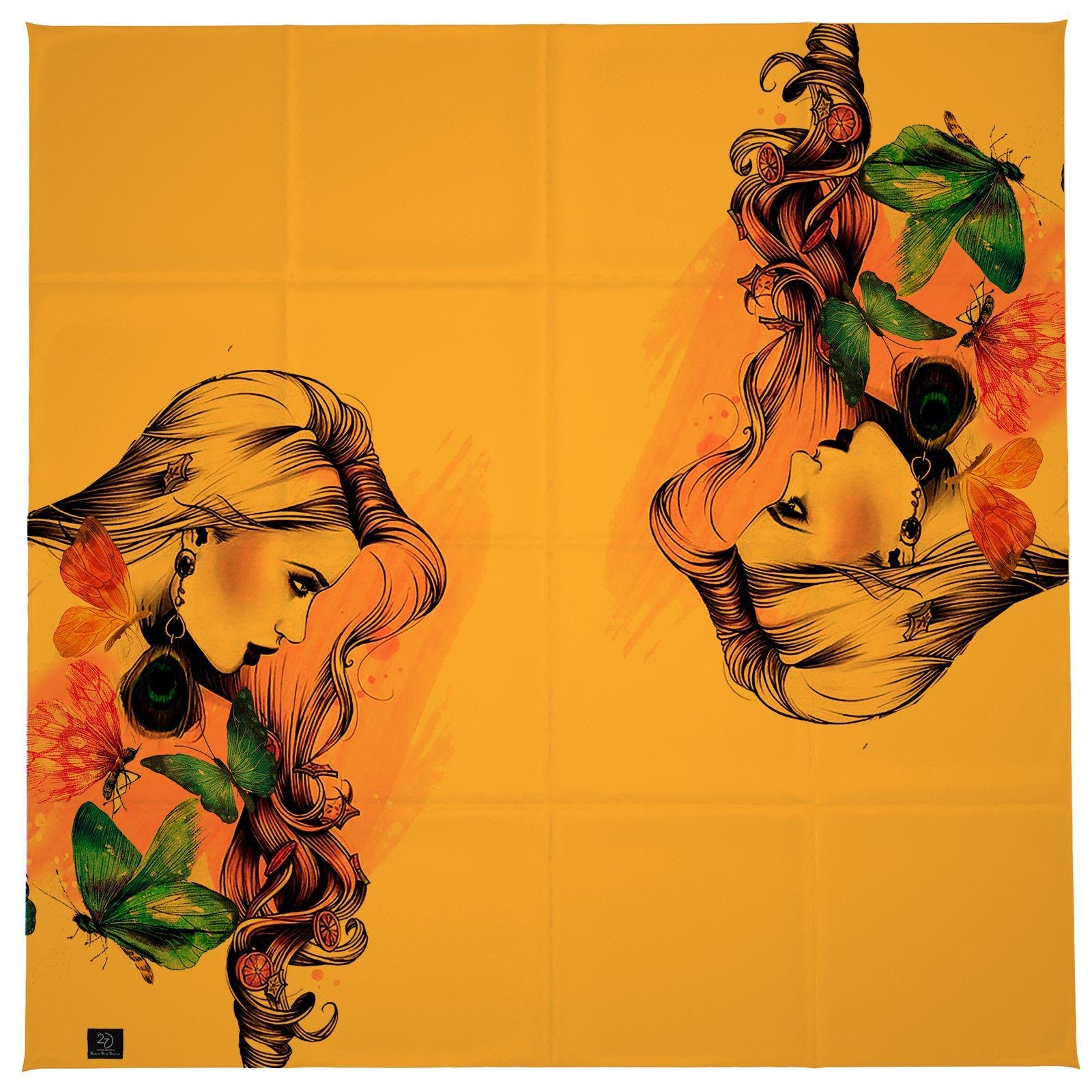 روسری زنانه 27 طرح girl کد H03 -  - 5