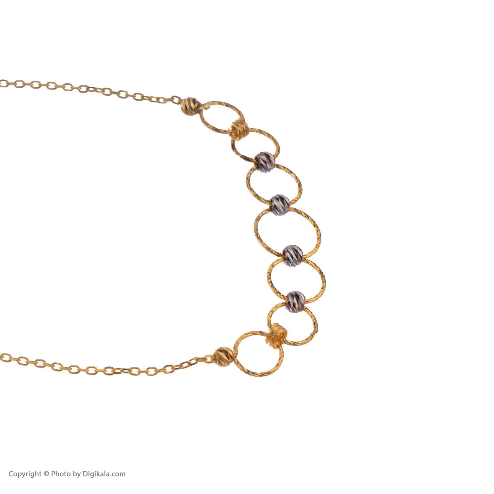 دستبند طلا 18 عیار زنانه مایا ماهک مدل ZMB1054 -  - 4