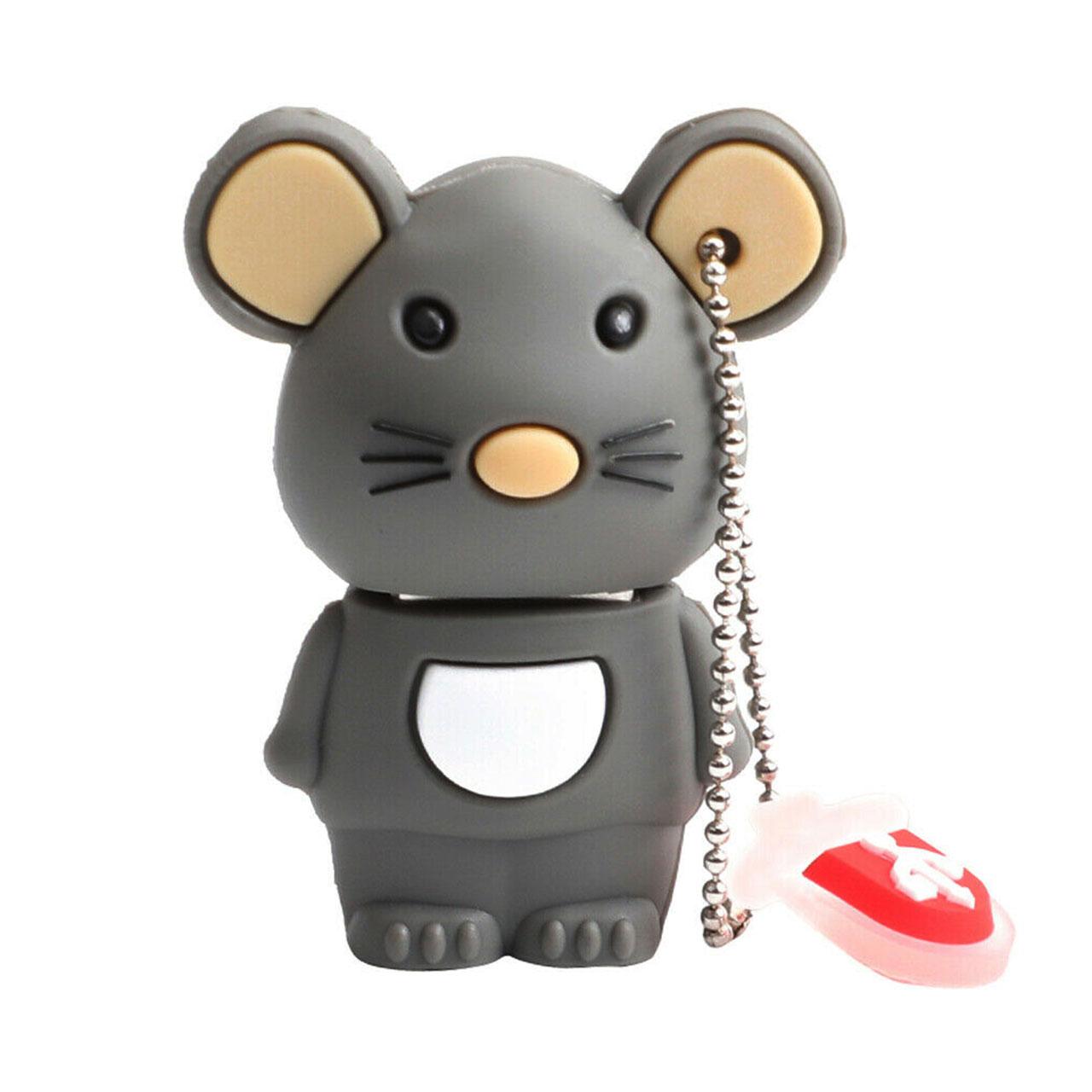 بررسی و {خرید با تخفیف} فلش مموری طرح موش مدل Ul-Mouse01 ظرفیت 128 گیگابایت اصل