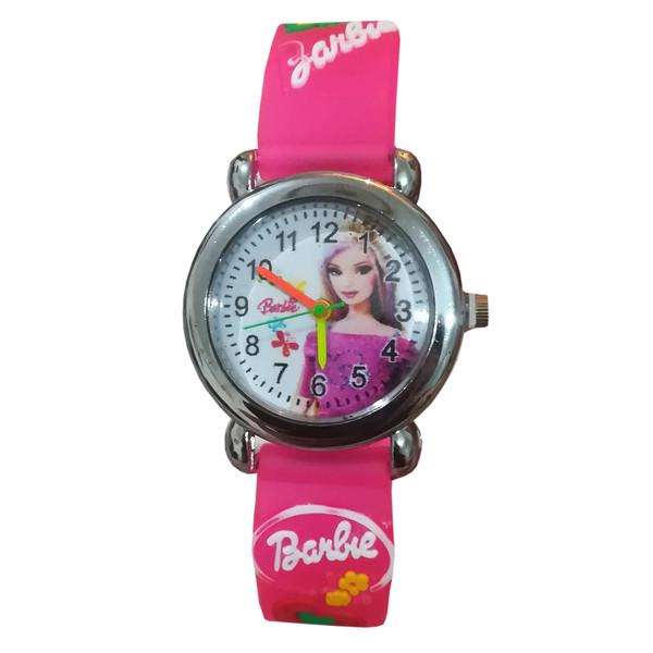 ساعت مچی عقربه ای دخترانه طرح باربی مدل s11