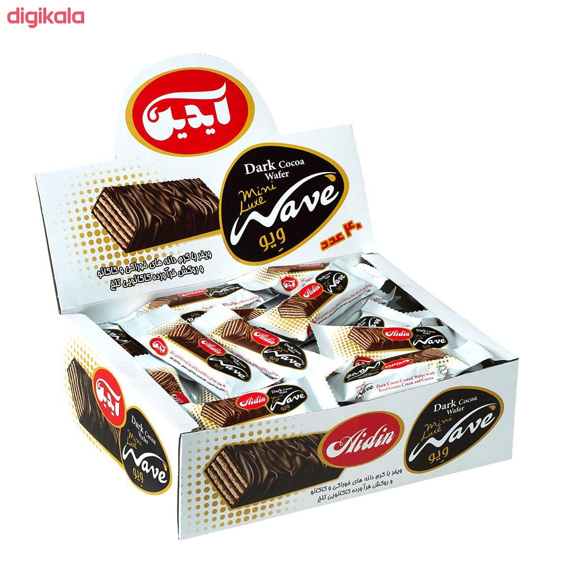 مینی ویفر شکلات تلخ آیدین بسته 40 عددی main 1 1