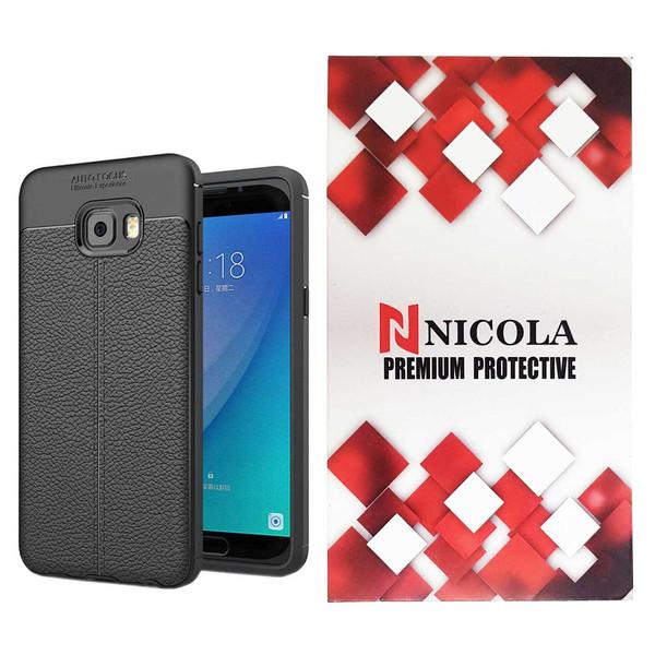 کاور نیکلا مدل N_ATO مناسب برای گوشی موبایل سامسونگ Galaxy C7 Pro