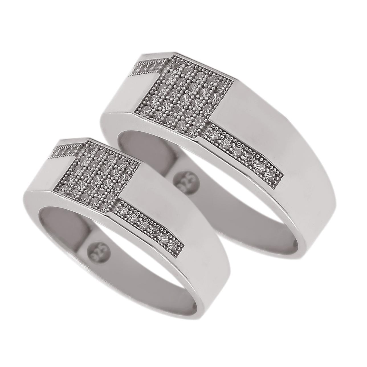 ست انگشتر نقره زنانه و مردانه مدل khod23444