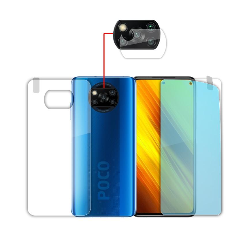 بررسی و {خرید با تخفیف} محافظ صفحه نمایش و محافظ پشت گوشی مدل brl-16 مناسب برای گوشی موبایل شیائومی Poco X3 Pro به همراه محافظ لنز دوربین اصل