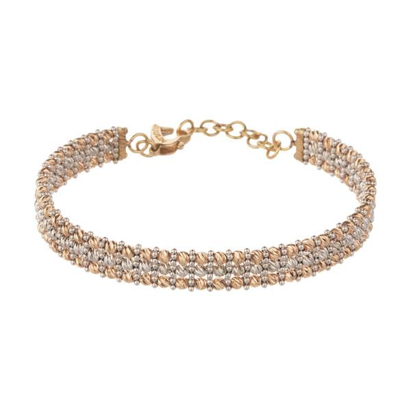 دستبند النگویی طلا 18 عیار زنانه مایا ماهک مدل MB1134