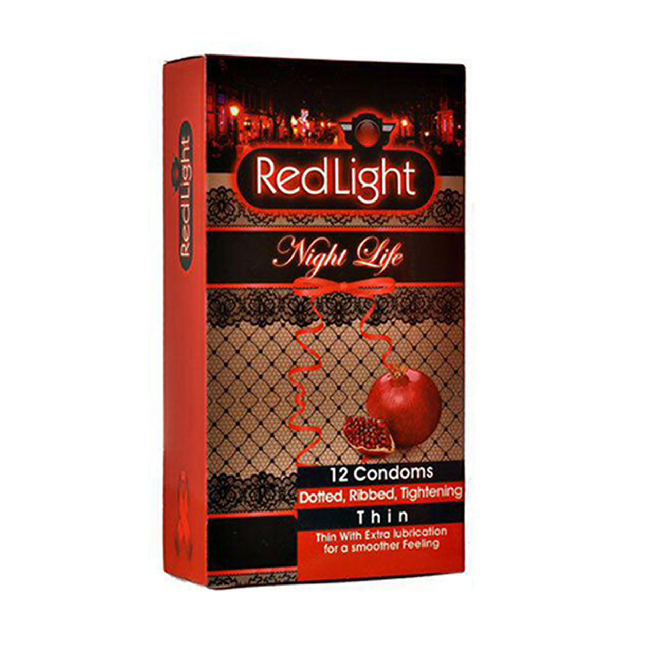 کاندوم ردلایت مدل Night Life بسته 12 عددی به همراه کاندوم ساگامی مدل لارج مجموعه 3 عددی