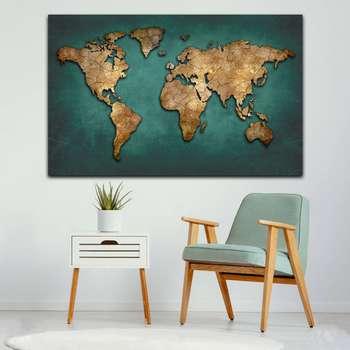 تابلو بوم مدل نقشه جهان کد MN7