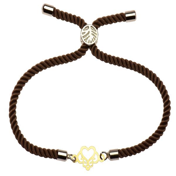 دستبند طلا 18 عیار دخترانه کرابو طرح قلب مدل Krd1112
