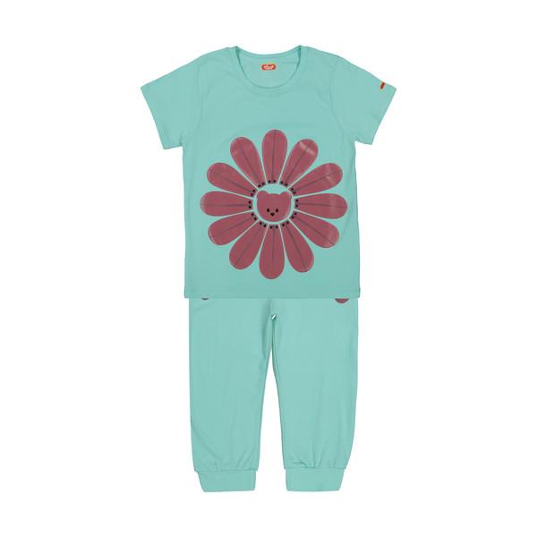 ست تی شرت و شلوار دخترانه مادر مدل 2041101-54
