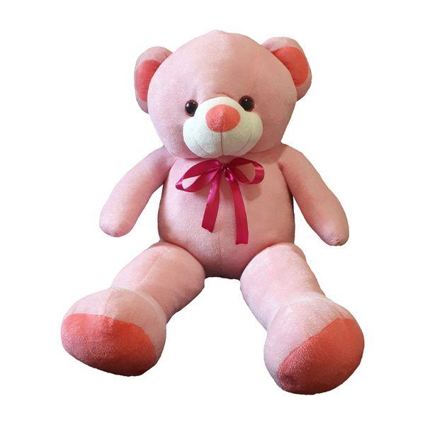عروسک خرس دختر مدل happy ارتفاع 100 سانتی متر