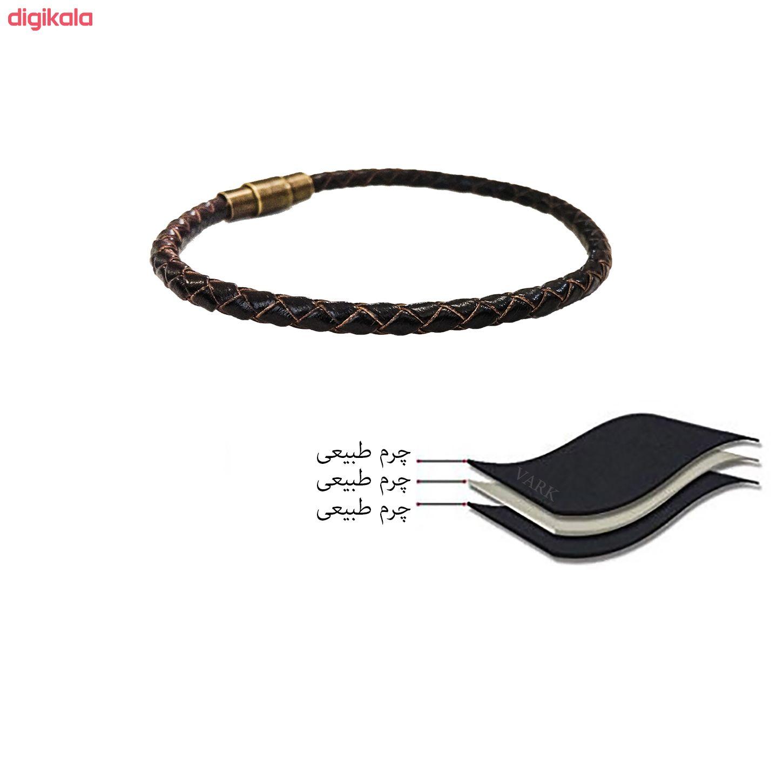 دستبند چرم وارک مدل رادین کد rb267  main 1 8