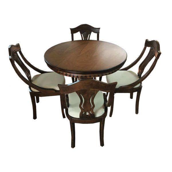 میز و صندلی ناهارخوری 4 نفره مدل Del