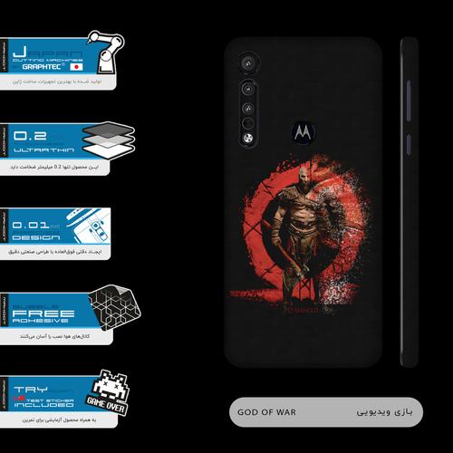 برچسب پوششی ماهوت مدل GOD-OF-WAR-Game-FullSkin  مناسب برای گوشی موبایل موتورولا One Macro