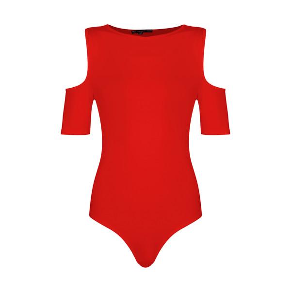 بادی آستین کوتاه زنانه افراتین کد 9541 رنگ قرمز
