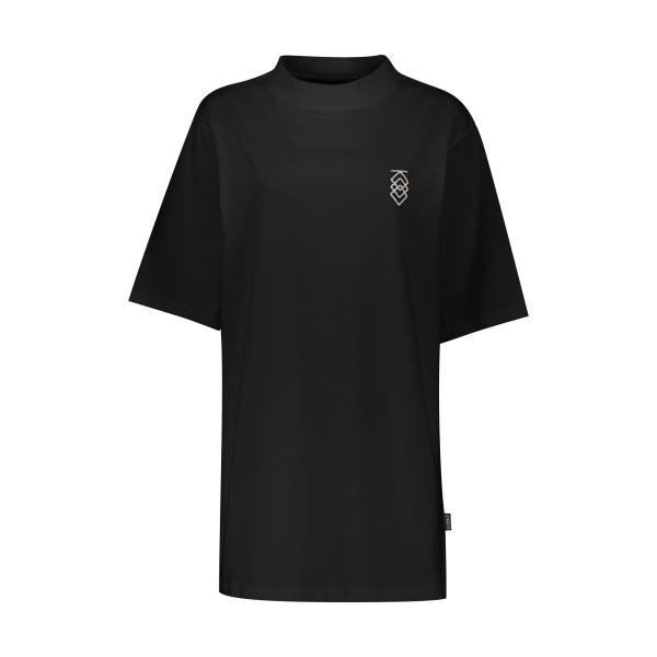 تی شرت آستین کوتاه زنانه پپا مدل MVP رنگ مشکی