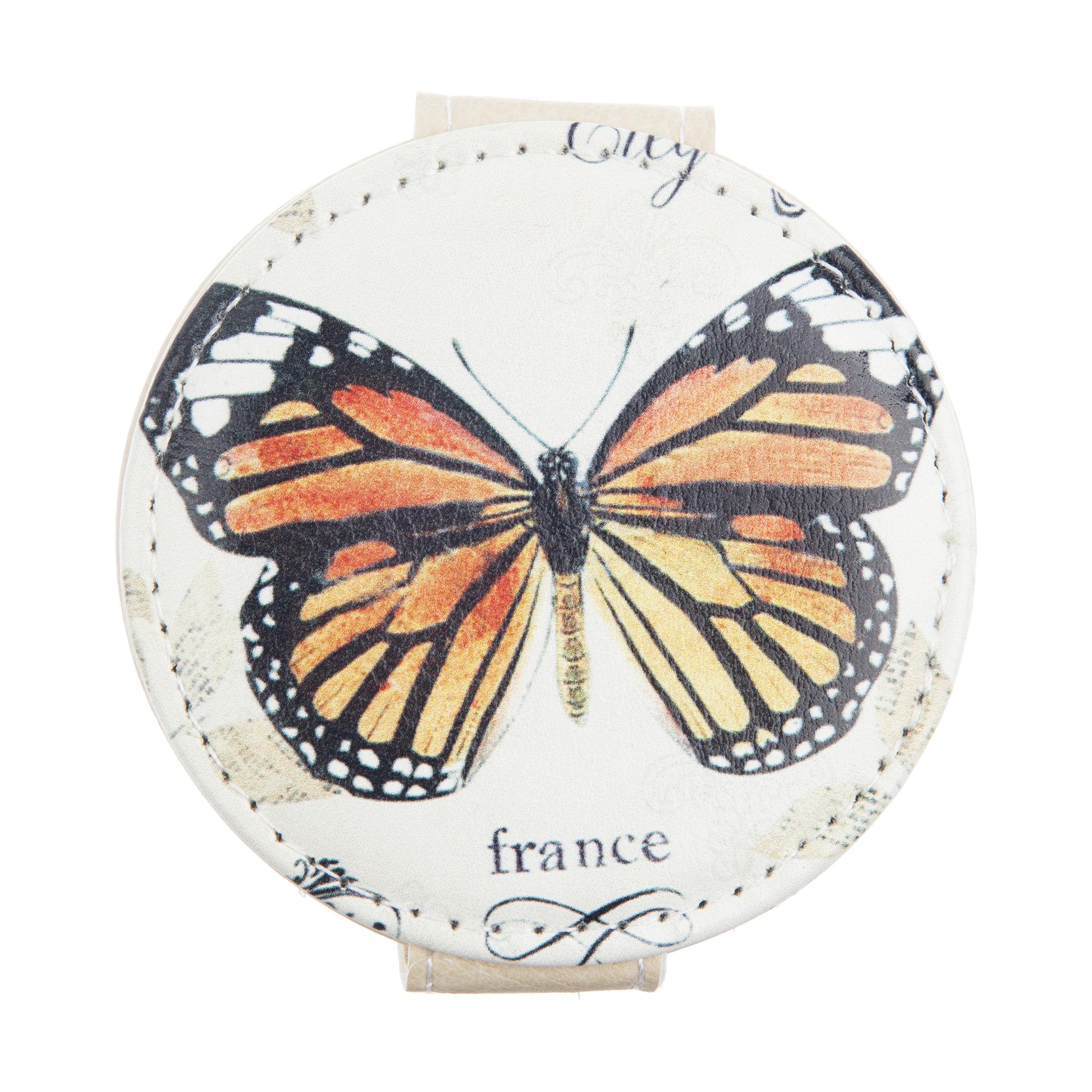 آینه جیبی طرح پروانه کد 90509