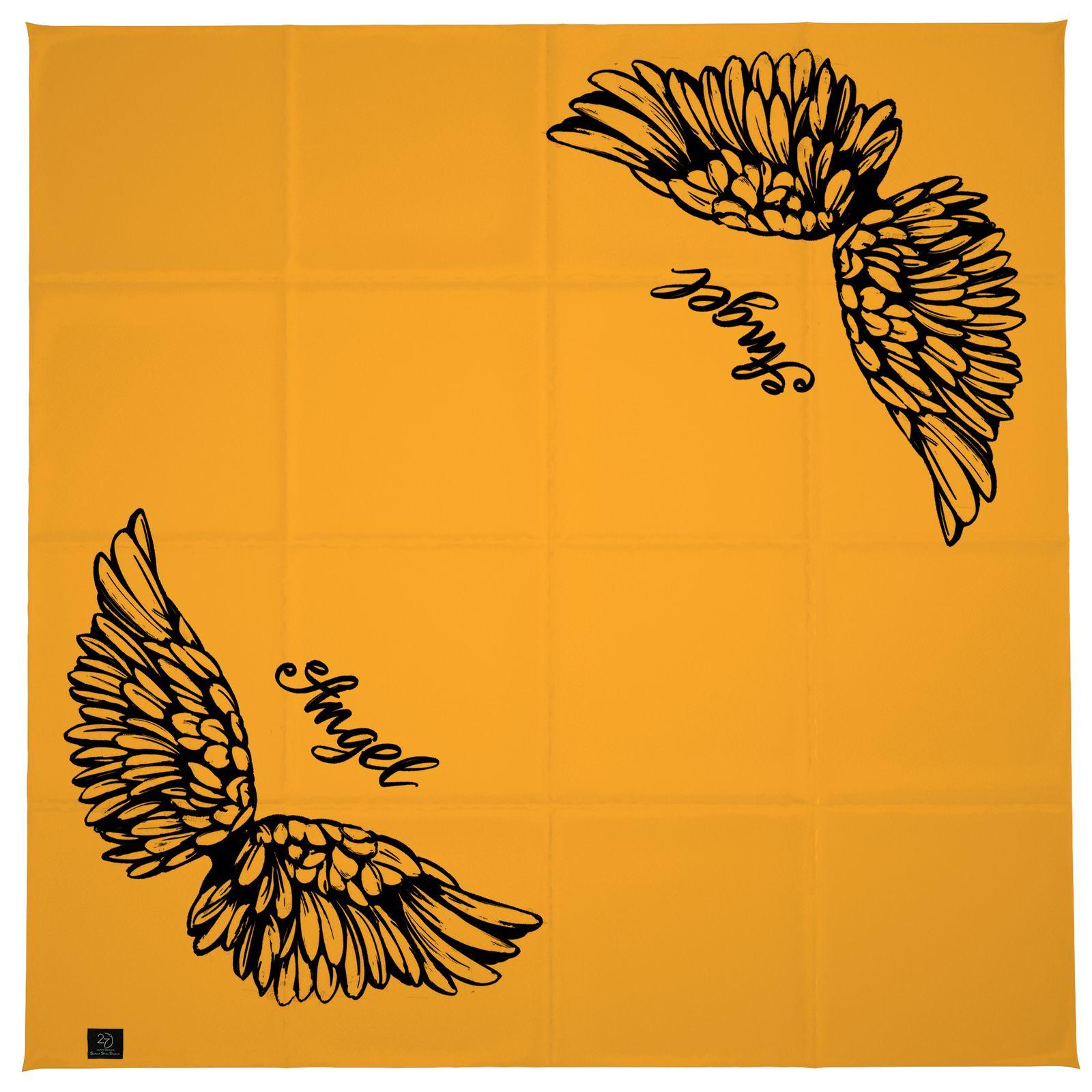 روسری زنانه 27 طرح angel کد H08 -  - 6