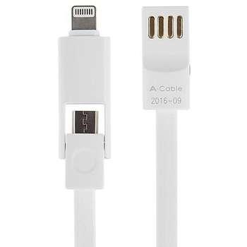 کابل تبدیل USB به لایتنینگ/microUSB آران مدل B10M6 طول 1 متر