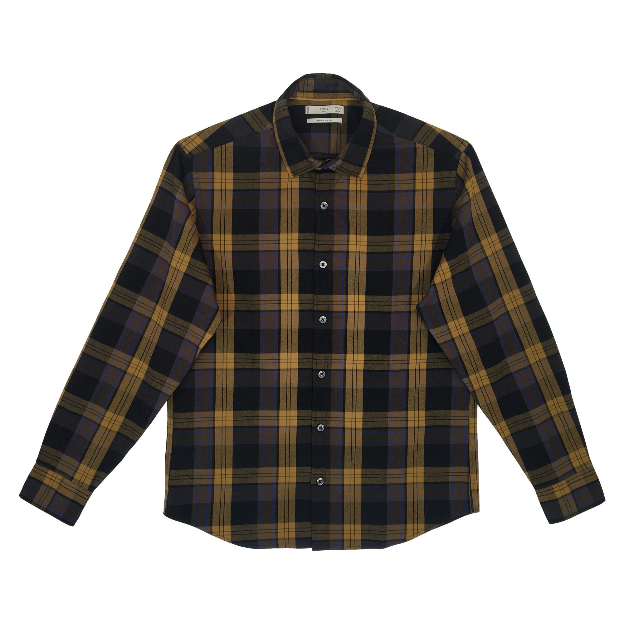 پیراهن آستین بلند مردانه مانگو مدل 87040510