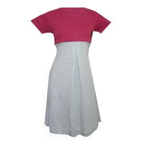 پیراهن بارداری کد 1200 رنگ سرخابی