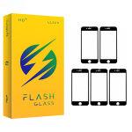 محافظ صفحه نمایش 5D فلش مدل +HD مناسب برای گوشی موبایل اپل IPhone 7 plus/8 plus بسته 5 عددی