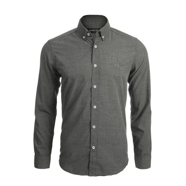 پیراهن آستین بلند مردانه ناوالس مدل MLANZH-TC